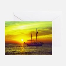 key west at sunset Greeting Card