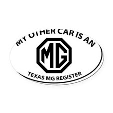 My Other Car is an MG - Octogon Lo Oval Car Magnet