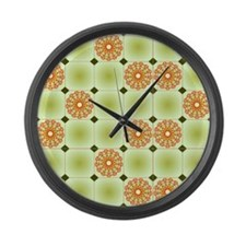 Flower Art Design Large Wall Clock