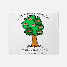 Bacon Tree Throw Blanket