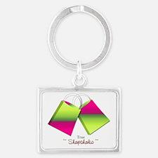 Trus Shopaholic with shopping b Landscape Keychain