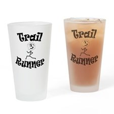 Trail Runner Stick Person Drinking Glass