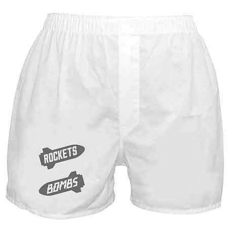 Black Rockets Not Bombs Shirt Art Boxer Shorts
