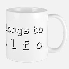 My Heart Belongs To Rodolfo Small Small Mug