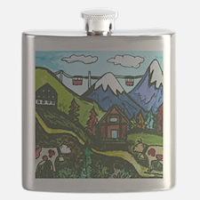 Swiss Cow Fun Flask