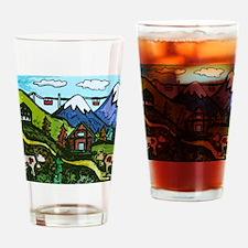 Swiss Cow Fun Drinking Glass