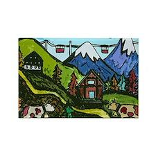 Swiss Cow Fun Rectangle Magnet
