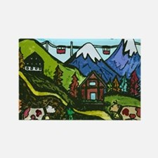 Swiss Cow Fun Rectangle Magnet