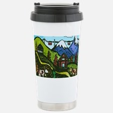 Swiss Cow Fun Stainless Steel Travel Mug