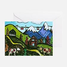 Swiss Cow Fun Greeting Card