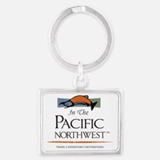 In The Pacific Northwest Logo L Landscape Keychain