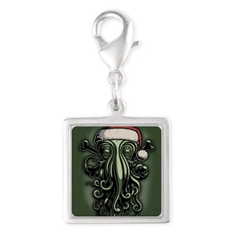 cthulhu-claus-CRD2 Silver Square Charm