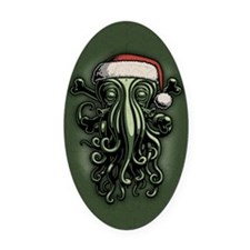 cthulhu-claus-OV Oval Car Magnet
