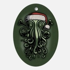 cthulhu-claus-OV Oval Ornament