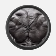 BODYBUILDING BACK Large Wall Clock