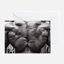 BODYBUILDING BACK Greeting Card