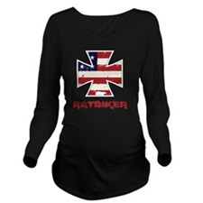 American Ratbiker Long Sleeve Maternity T-Shirt
