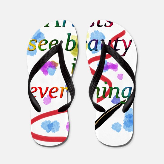Artists See Beauty Flip Flops