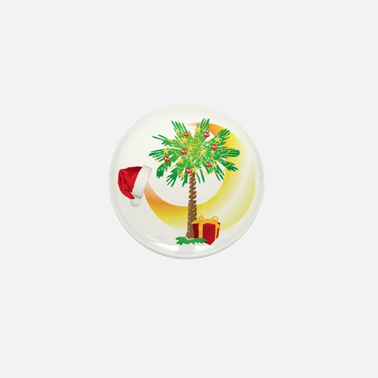 Christmas SC Palmetto Moon Flag Mini Button