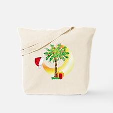 Christmas SC Palmetto Moon Flag Tote Bag