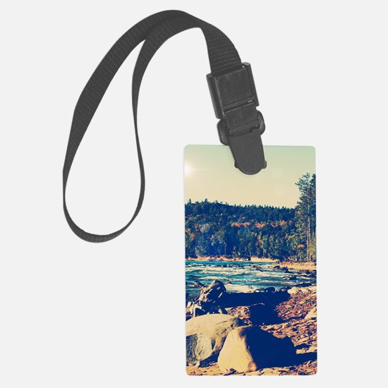 Rocky Shores of Lake Superior Luggage Tag