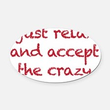 relax Oval Car Magnet
