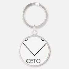Ceto Asterian astrology Round Keychain