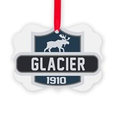 Glacier Nature Badge Picture Ornament