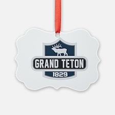 Grand Teton Nature Badge Ornament