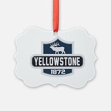 Yellowstone Nature Badge Ornament
