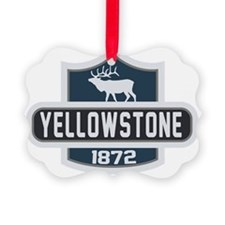 Yellowstone Nature Badge Picture Ornament