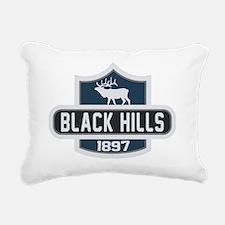 Black Hills Nature Badge Rectangular Canvas Pillow