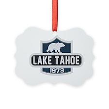 Lake Tahoe Nature Badge Ornament
