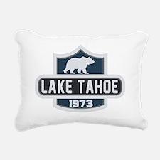 Lake Tahoe Nature Badge Rectangular Canvas Pillow