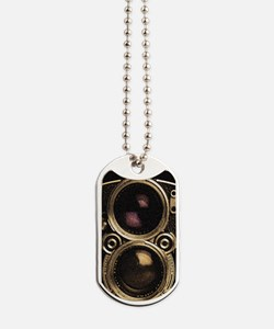 STEAMPUNK IPHONE CAMERA Dog Tags