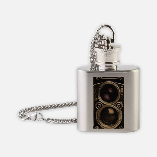 STEAMPUNK IPHONE CAMERA Flask Necklace