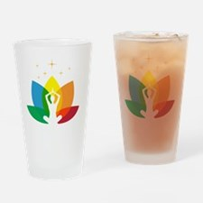 Lotus Flower and Yoga Pose Drinking Glass