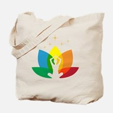 Lotus Flower and Yoga Pose Tote Bag
