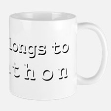My Heart Belongs To Johnathon Small Small Mug