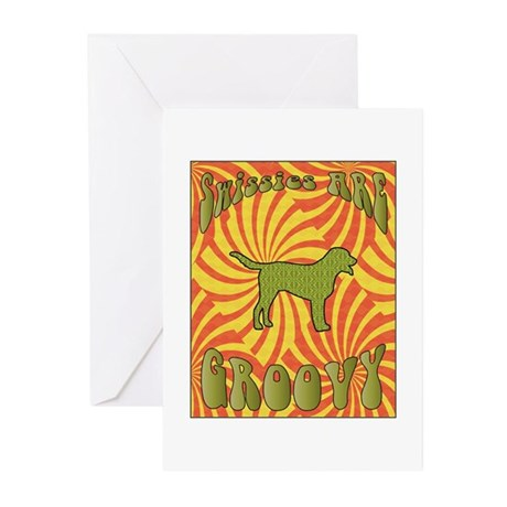 Groovy Swissies Greeting Cards (Pk of 10)