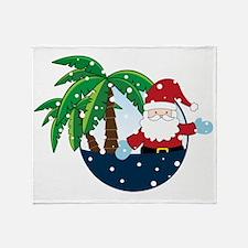 Christmas In Paradise Throw Blanket