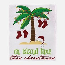 On Island Time Throw Blanket
