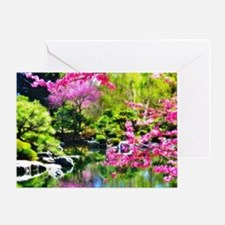 Oriental garden Greeting Card