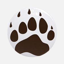 Brown Paw Print png Round Ornament