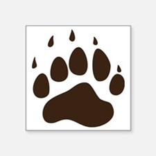 "Brown Paw Print png Square Sticker 3"" x 3"""