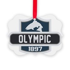 Olympic Nature Badge Picture Ornament