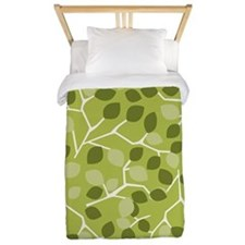 BranchLeaves_Green_Large Twin Duvet