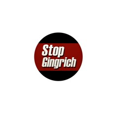 Stop Gingrich Miniature Collectors Button