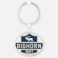 Bighorn Nature Badge Oval Keychain