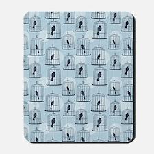 BirdCage_Blue_Large Mousepad